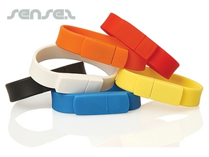 Silicone Wristband USB Sticks (1GB)