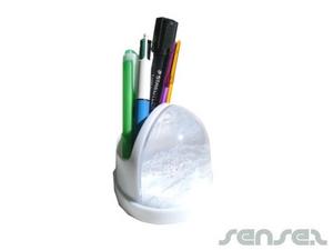 Schneekugel Stifthalter