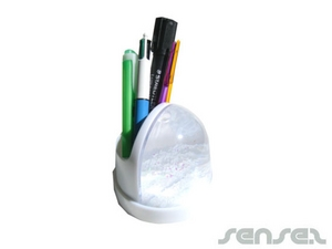 Snow Dome Pen Holders