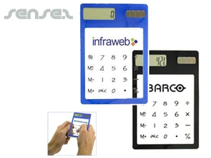 Clear Solar Powered Calculators