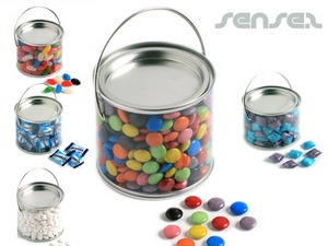 Clear Buckets Filled with Lollies (500ml)