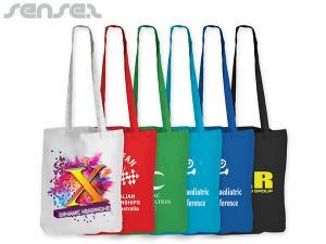 Coloured Cotton Bags (Long Handles)