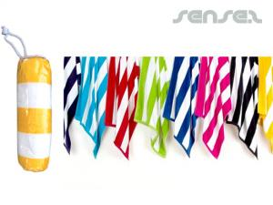 Plush Striped Beach Towels (450gsm)