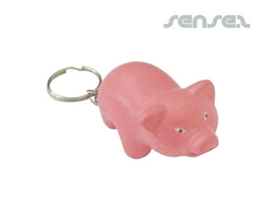 Pig Stress Ball Key Chains