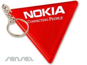 Reflective Triangular Key Chains