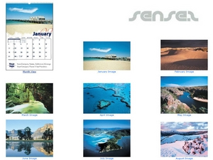 Australian theme  wall calendar