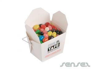 Nudel-Boxen gefüllt mit Jelly Beans (100g)