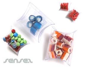 Pillow-Boxen gefüllt mit Süßigkeiten 20Grms