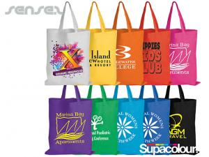 Cheap Coloured Cotton Bags (Short Handle)