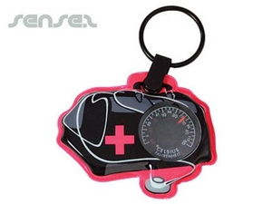 Thermometer Integrated Custom Shaped Key Chains