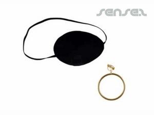 Piraten-Augenklappen und Ohrring