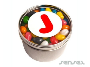 Round Tin With Clear Lid Filled With Choice Of Lollies