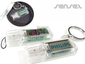 USB-Sticks mit Logo Solar Powered Blinkt (1GB)