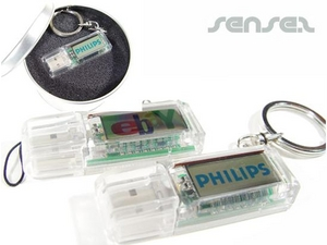 USB Sticks with Solar Powered Blinking Logo (1GB)