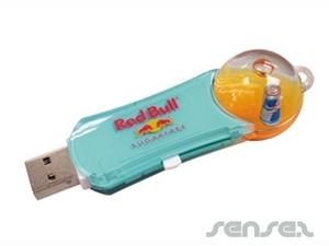 Liquid Filled Bubble USB Sticks 2GB