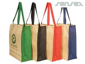 Colour Panel Jute Bags