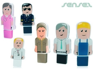 Mini Professionals in Uniforms USB Stick People