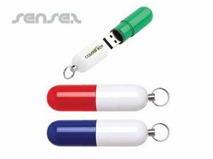Pill Shaped USB Sticks 2GB