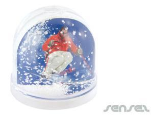 Foto-Einsatz Schnee Domes (Bedruckt)