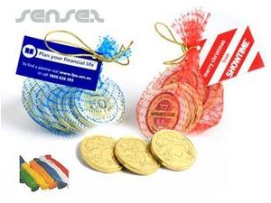 Schokoladen-Münzen Geld-Taschen
