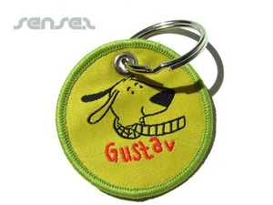 Shaped Fabric Badge Key Chains