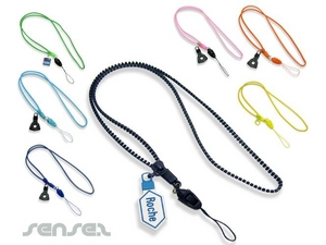 Zippered Lanyards With Custom Tag