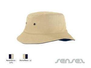 Kontrast Unter Rand Bucket Hats
