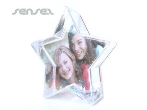 Liquid Filled Star Shaped Photo Frames