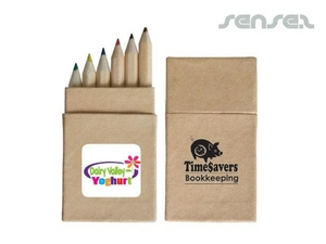 Mini Colour Pencil Sets in Cardboard Box