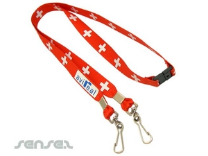 Double Hook Conference Lanyard