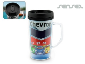 BPA Free Printed Insert Thermo Mugs