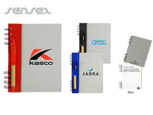 Recycling-Journal Bücher mit Kugelschreiber