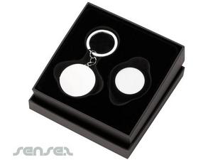 Lippenbalsam mit Spiegel Metall-Schlüsselanhänger