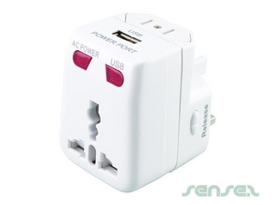 Universal Travel Adaptor With USB Charger