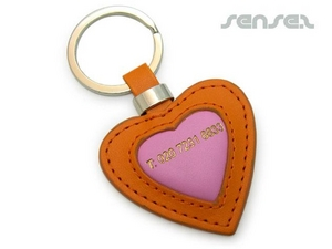 Heart Shaped Leather Key Chains