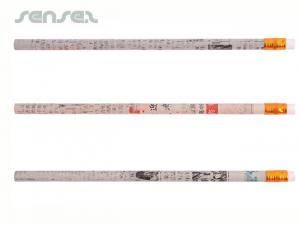 Recycled Newspaper Pencils with Eraser
