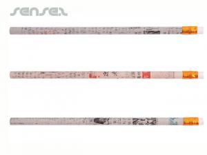 Werbe Recycled Zeitung Bleistift mit Radiergummi