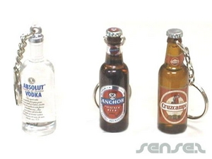 3D Bottle Shaped Key Rings