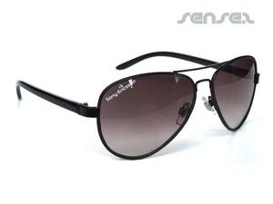 Aviator Sonnenbrille (mit Lederbesatz)