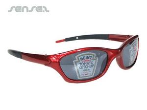 Sonnenbrille mit Druck auf Glas