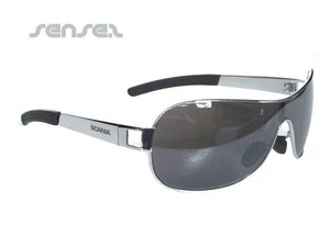 Metallrahmen-Wrap-Sonnenbrille