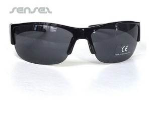 aviator sunglasses with leather trim promotional