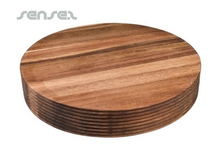 Chunky Round Designer Wooden Chopping Boards