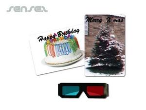 3D-Postkarte und Gläser-Set