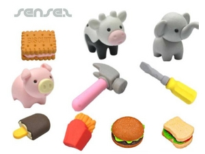 Custom Shaped Erasers