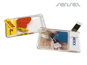 Liquid Filled USB Stick Card