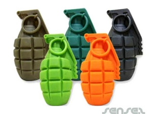 Doggy Hand Grenade Shaped Chewy Toy