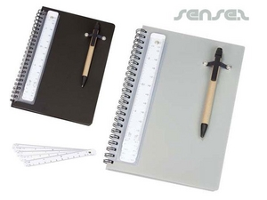 A5 notebook with pen and scale ruler