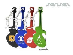 Guitar Bottle Opener Key Chains