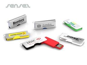 Mini USB Sticks in Silver Case (2GB)